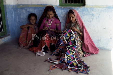 tribal crafts of embroidery and applique