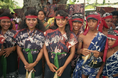 young people wearing ikat designs sumba
