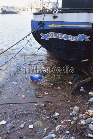 rubbish in gloucester docks england united