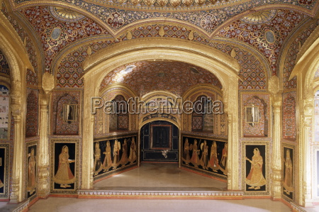 painted and gilded public reception area