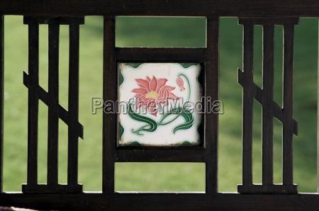 detail of art deco style tile