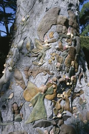 fairies tree carving by ola cohn