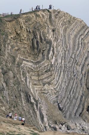 folded limestone and shale jurassic period