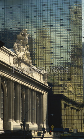 contrast between grand central station and