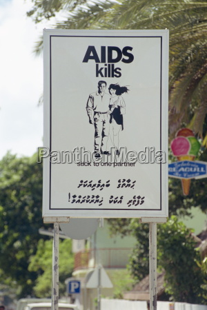 aids sign male maldives asia