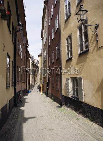 narrow street in gamla stan old