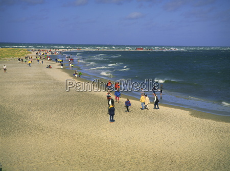 beach and sandspit at meeting of