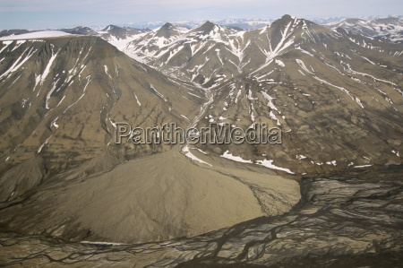 alluvial fan adventdalen spitsbergen norway scandinavia