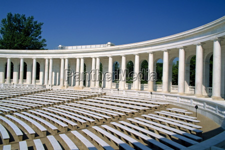 the colonnaded amphitheater of the arlington