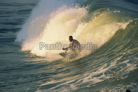 riding the tubes battery beach surfing