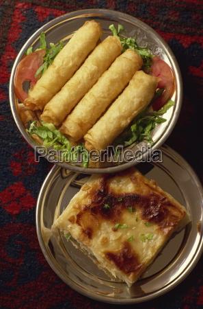 common warm starter of borek rolls