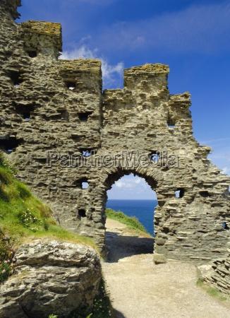 tintagel castle cornwall england uk europe