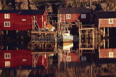 rorbuer cabins at kremmervika ballstad lofoten