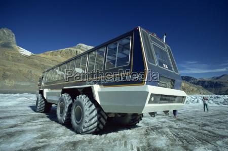 snowmobile that takes tourists onto the