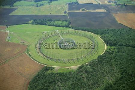 large circular aerial at raf chicksands