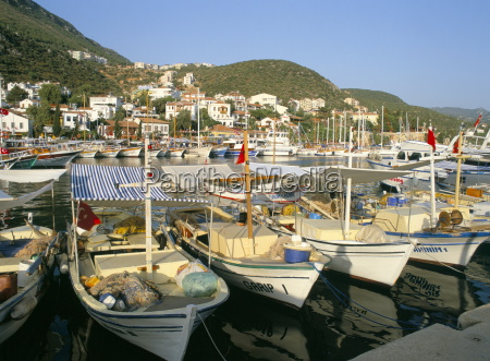 boats in the harbour kas south