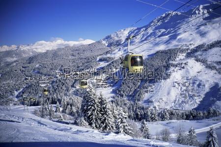 cable cars meribel trois vallees haute