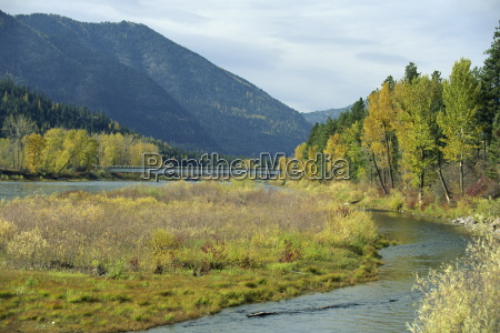 the clark fork river in the