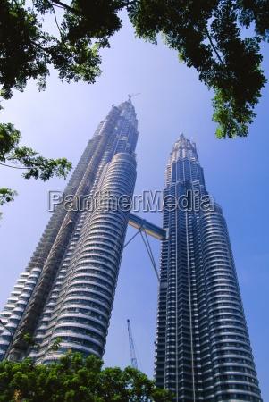 the petronas twin towers kuala lumpur