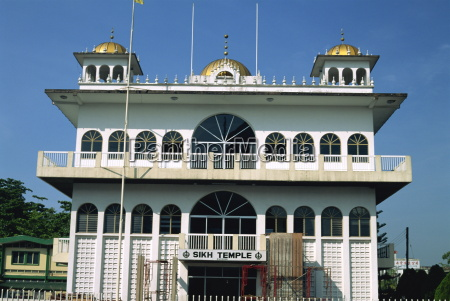 the sikh temple in kuching capital