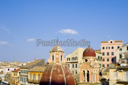 a view of corfu old town
