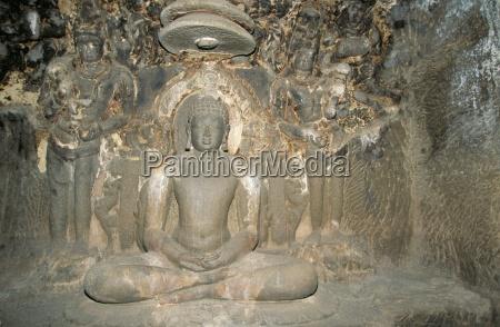 statue of mahavira founder of the