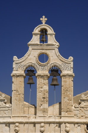 the ornate venetain belltower of the
