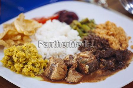 traditional sri lankan cuisine including pol