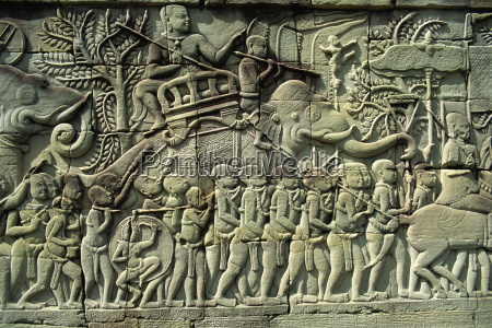 relief bayon angkor unesco world heritage