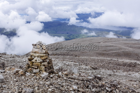 a pile of stones made by