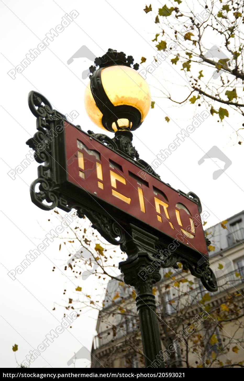 an, ornate, metro, sign, , paris, , france, - 20593021