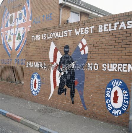 loyalist mural shankill road belfast northern
