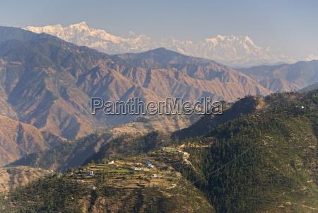 gangotri mountains garwhal himalaya seen from
