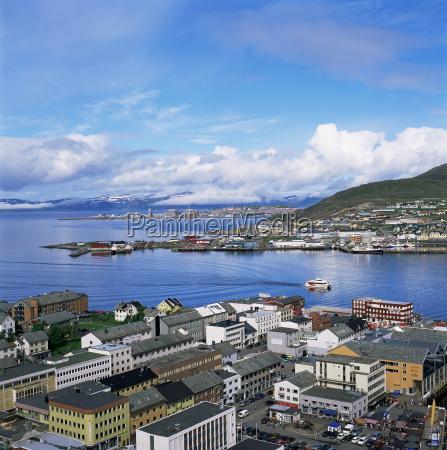hammerfest northern area norway scandinavia europe