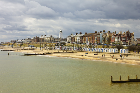 seafront of this attractive town with