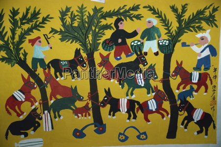 huxien paintings by farmers xian china
