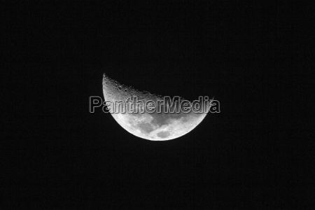 nearside half moon showing the following