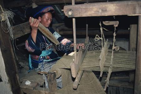 weaving hemp for mosquito nets bouyoi
