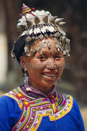 portrait of a miao woman with
