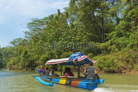 canoe on river trip to the