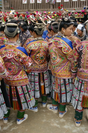 miao festival costume pingyong guizhou province