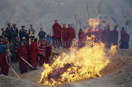 burning evil at losar new year