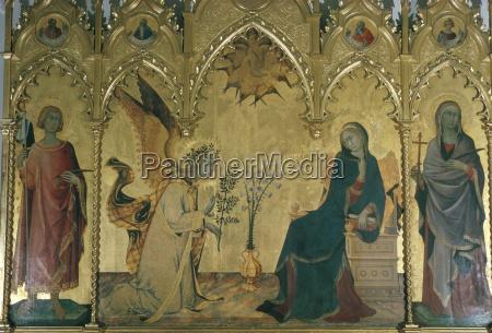 the annunciation simone martini uffizi florence