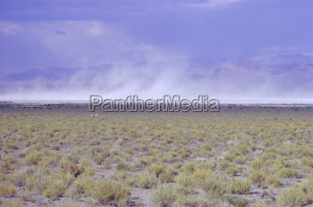 salt flats nevada usa dust storm