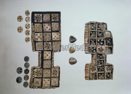 game boards from excavations at ur