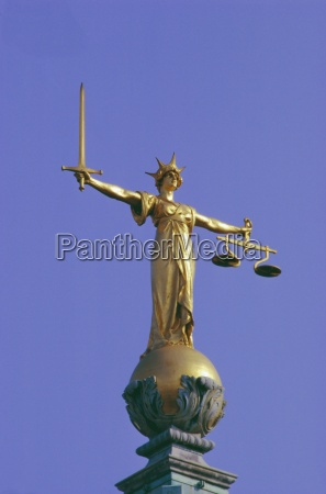 the scales of justice above the
