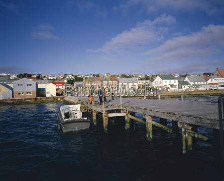 jetty and town stanley falkland islands