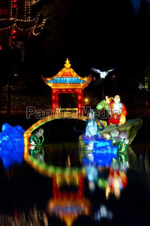 chinese lanterns at the magic of