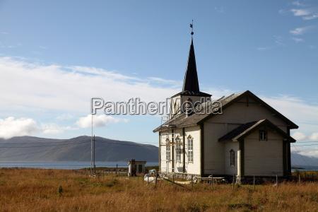 church at uninhabited island of helgoy