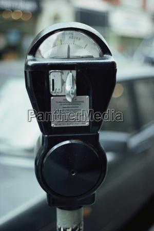 close up of parking meter london